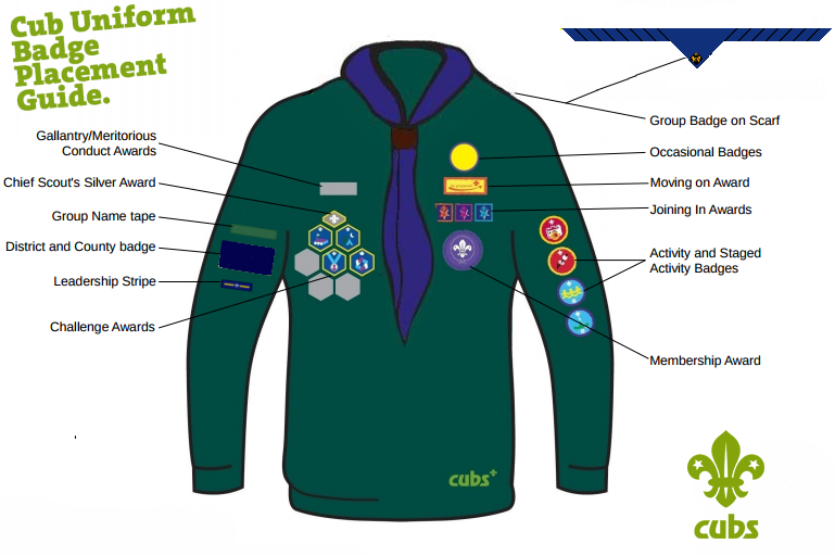 Cub Badge Positions on Us History Explorers